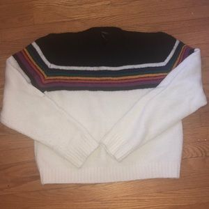White and Black Forever 21 Sweater